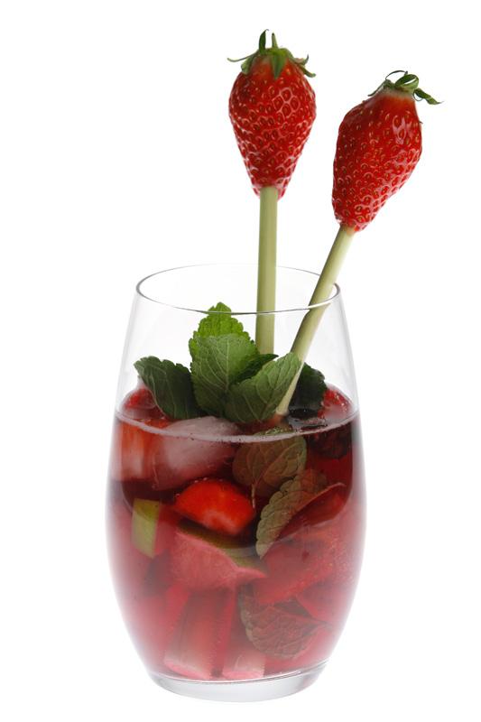 Cocktail Floc de Gascogne Rouge,le Moji FLoc