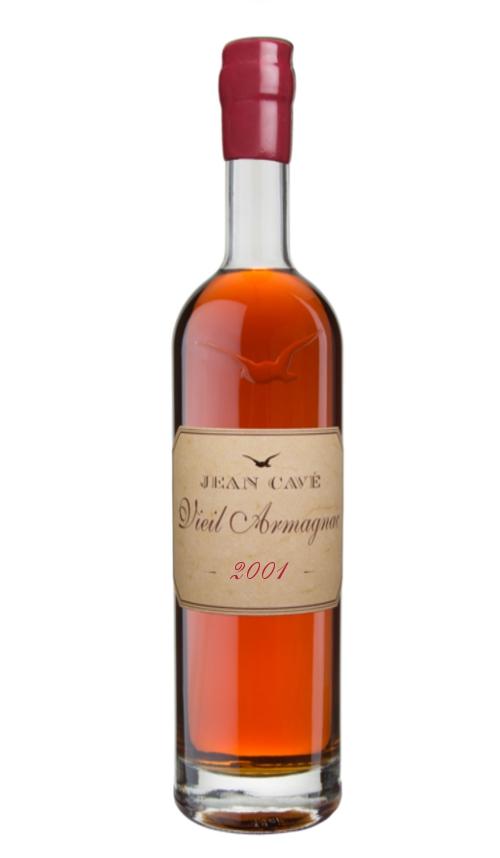 Armagnac 2001 millésime Jean Cavé 70cl bouteille ariane