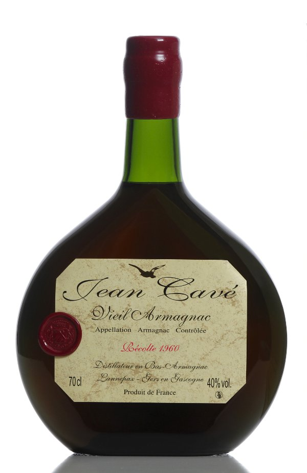 armagnac 1960 millesime  bouteille armagnac basquaise 70cl armagnac jean cave