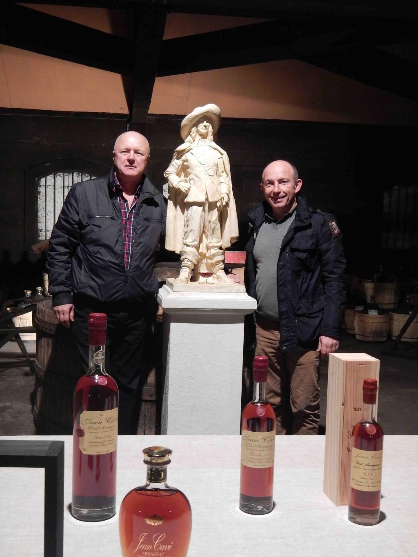 Visite des Chais Armagnac Jean cavé de notre ami russe