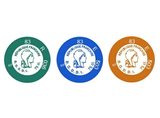 Capsules représentatives des droits (CRD) du Cognac et de l'Armagnac