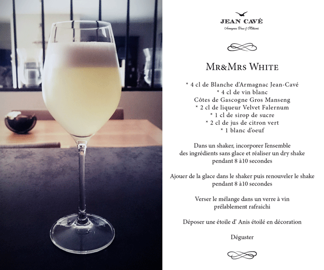 { COCKTAIL ARMAGNAC } Mr&Mrs White